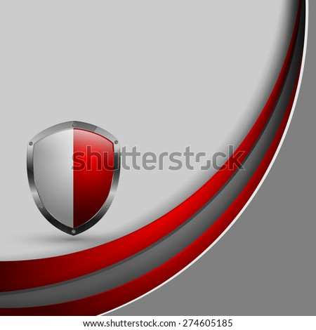 abstract vector corporate template with shield. Eps10 - stock vector