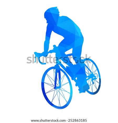 Abstract vector cyclist - stock vector