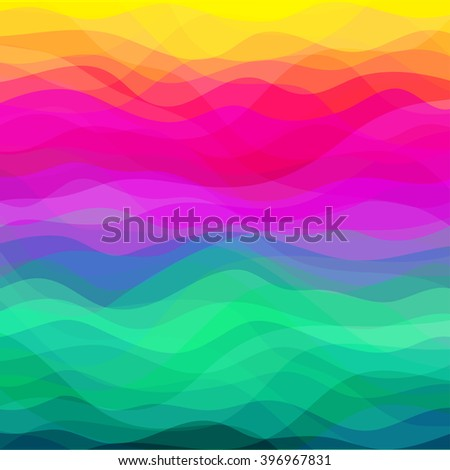 Abstract Vector Design Creativity Background of Colorful Waves - stock vector