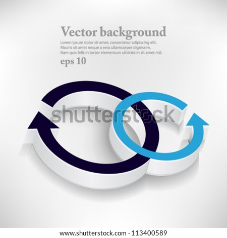 abstract  vector design eps10, web arrow icon - stock vector