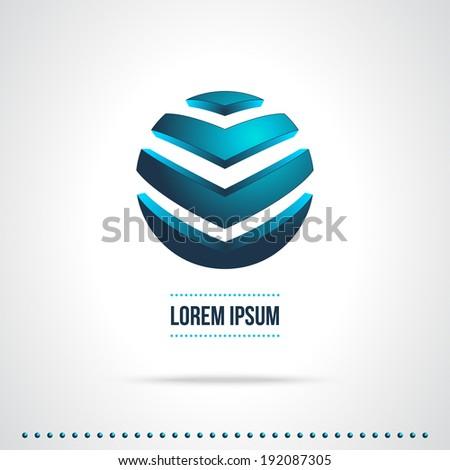 Abstract Vector Design Template. Creative Blue Concept Icon - stock vector