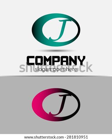Abstract Vector Design Template. Creative Concept Icon J  - stock vector