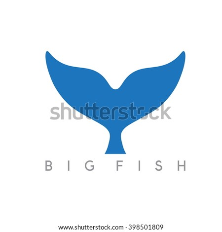 abstract vector design template of whale tail - stock vector