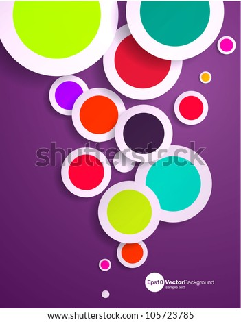Abstract vector design with multicolored 3d spots - stock vector