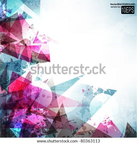 Abstract Vector Digital Art - stock vector