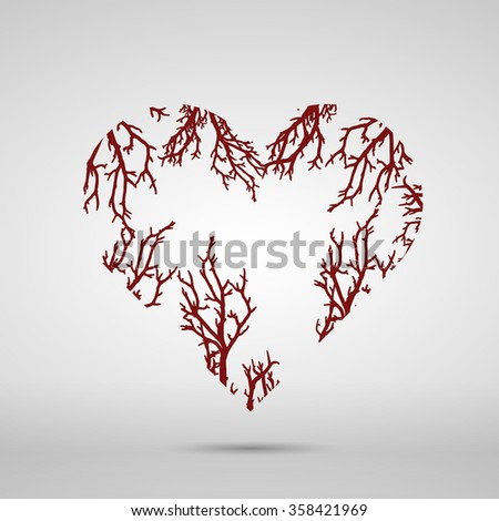 Abstract Vector drawing of a heart shape. - stock vector