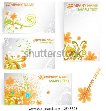 Abstract vector elements for design. - stock vector