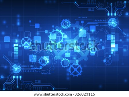 abstract vector engineering technology background illustration