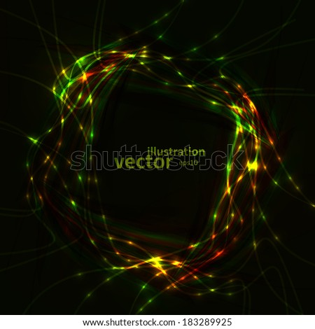 Abstract vector eps10. Creative dynamic element, light lines Illustrations.