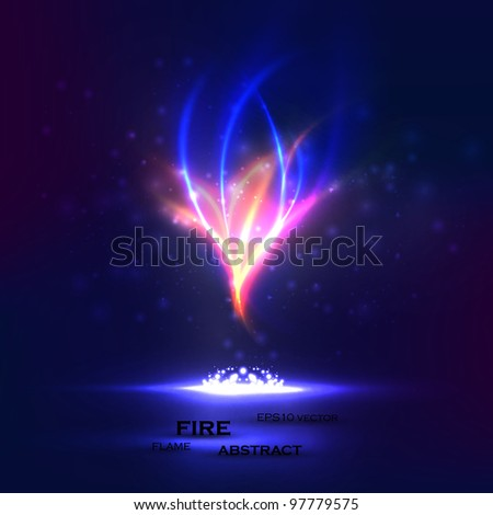 Abstract vector eps10. Creative dynamic, magic fire Illustrations. - stock vector