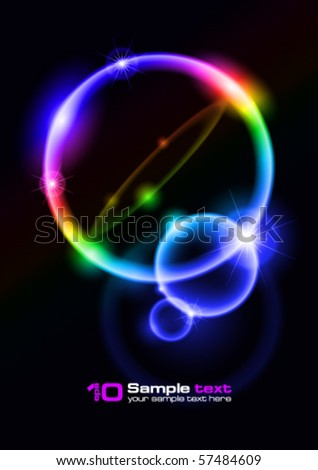 Abstract vector eps10 glowing background. Bubbles. For your design. - stock vector
