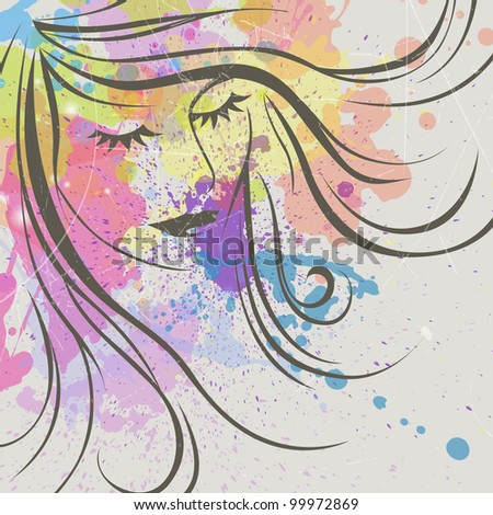 Abstract Vector Face - stock vector