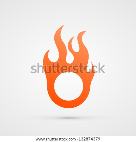 abstract vector fire design element orange eps10 illustration - stock vector
