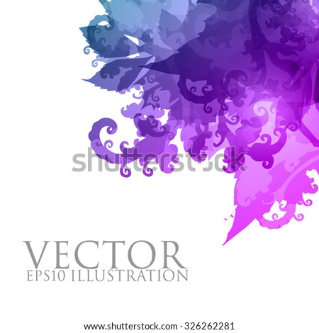 abstract vector floral illustration - stock vector