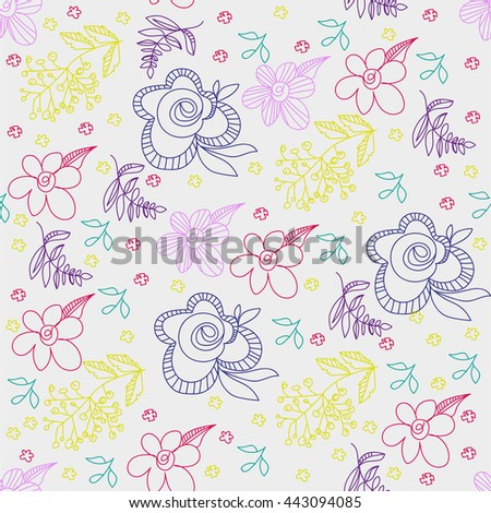 Abstract vector floral ornament.Vintage ornament background.Seamless pattern can be used for wallpapers, web page background, wrapping papers, surface textures.