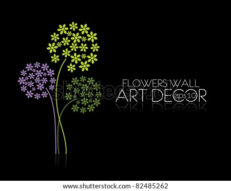 abstract vector flowers background with place for your text - stock vector