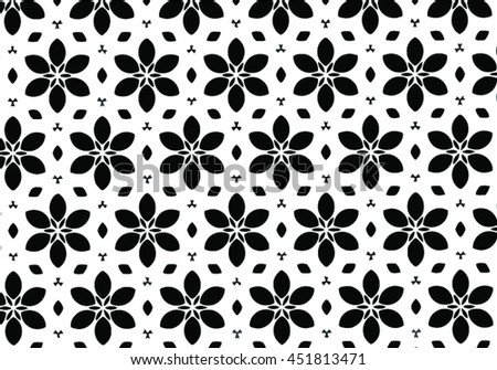 abstract vector flowers pattern