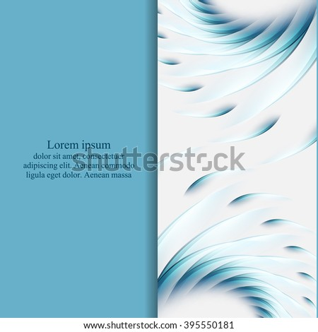 abstract vector flyer design with copy space. Eps10 - stock vector