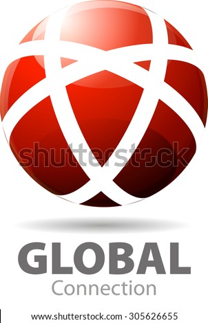 Abstract vector, for a global network that always connects one with the place, another point. - stock vector