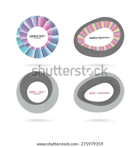 Abstract vector form. Color line Designer - stock vector