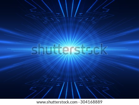 abstract vector future technology concept background illustration - stock vector