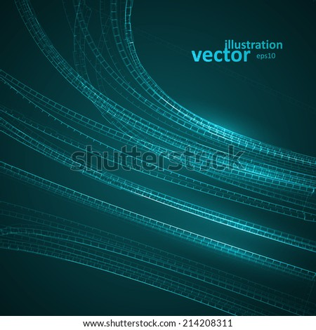 Abstract vector futuristic illustration eps10, creative dynamic element.