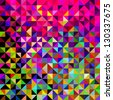 Abstract Vector Geometric Color Background - stock photo