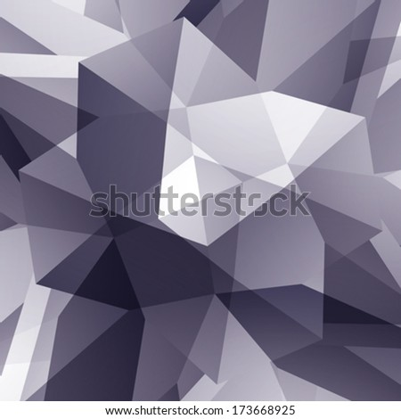 Abstract vector geometric 3D background, grayscale decorative pattern. - stock vector