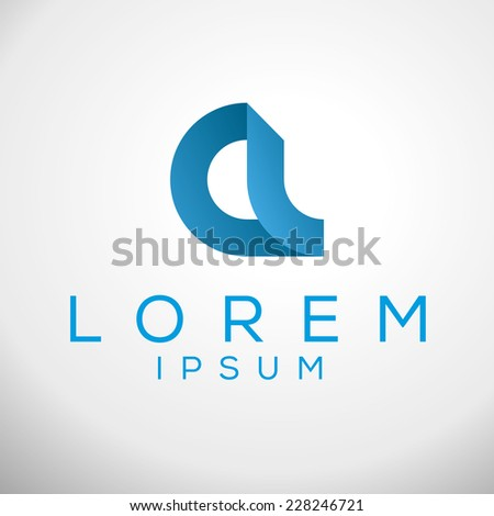 Abstract vector graphic type a logo. Elegant minimal style corporate identity sign template. Vector illustration. - stock vector