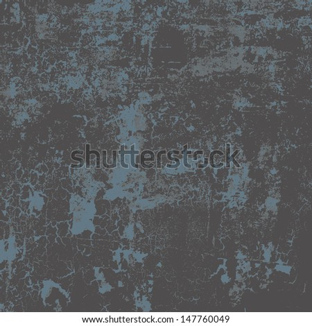 Abstract vector grunge background in three colors, no transparency - stock vector