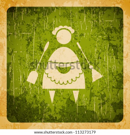 Abstract vector grunge background profession - stock vector