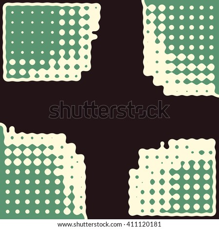 Abstract vector grunge background. Squared color,composition of irregular geometric shapes created using original digital pattern. - stock vector