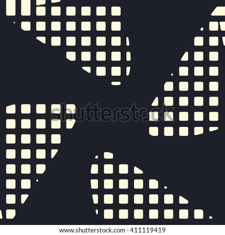 Abstract vector grunge background. Squared monochrome composition of irregular geometric shapes created using original digital pattern. - stock vector