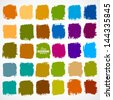 Abstract vector hand-painted square backgrounds - stock photo