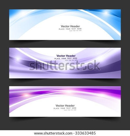 Abstract vector header business stylish wave background  - stock vector