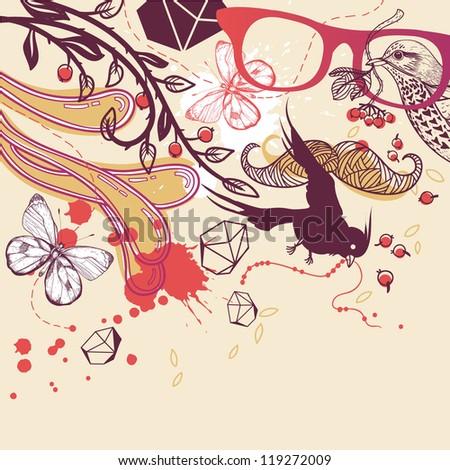 abstract vector illustration - stock vector