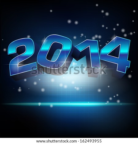 Abstract vector illustration for new year 2014 - stock vector