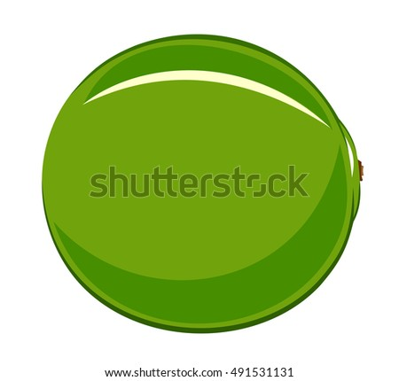 Abstract vector illustration of a lime cartoon style