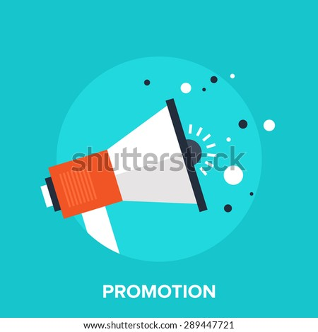 Abstract vector illustration of advertising flat design concept. - stock vector