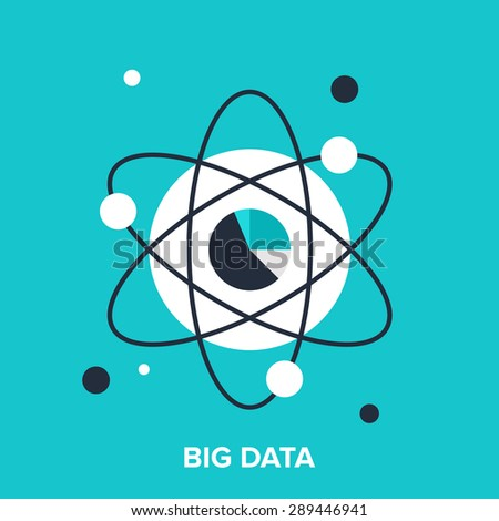 Abstract vector illustration of big data flat design concept. - stock vector