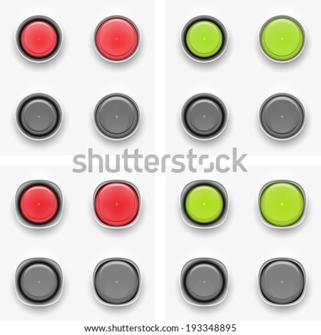 Abstract vector illustration of button pressed and pressed version eps 10 / button