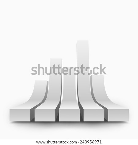 Abstract vector illustration of 3d graph. Background design with 3d shape. Stylized element for banner, poster, flyer, cover, brochure. Logo design. - stock vector