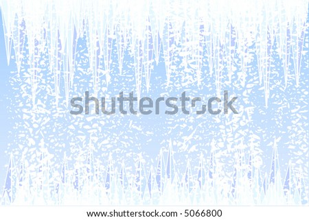 Abstract vector illustration of ice and snow - stock vector