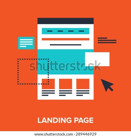 Abstract vector illustration of landing page flat design concept. - stock vector