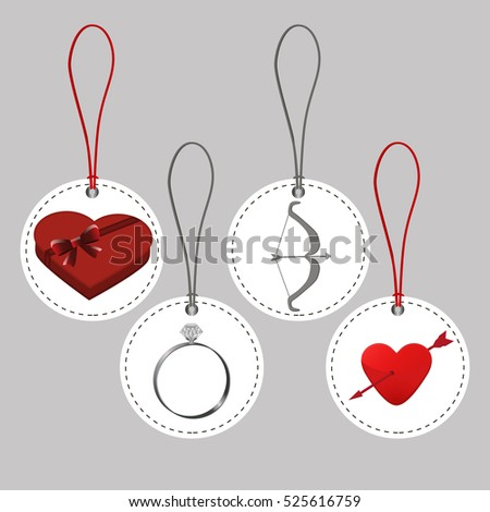 Abstract vector illustration of logo for celebration holiday happy St.Valentine's day,background.Saint valentine drawing that consists of a symbol red hearts,gift love.Celebrate holidays valentine's.