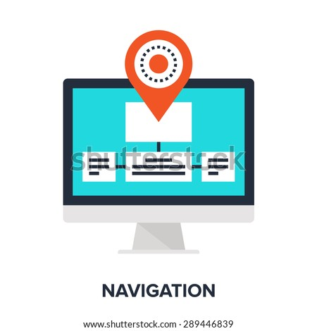 Abstract vector illustration of navigation flat design concept. - stock vector