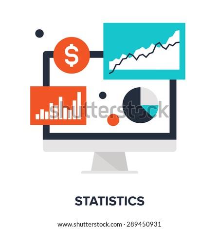 Abstract vector illustration of statistics flat design concept. - stock vector