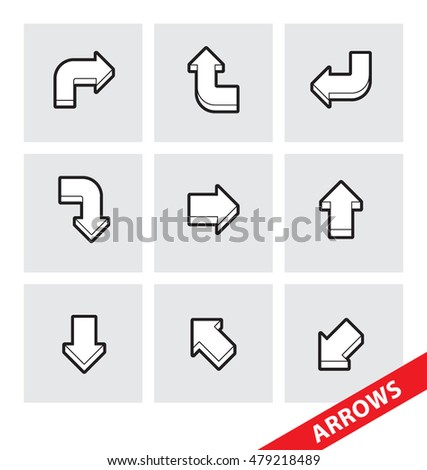 Abstract vector illustration of vector Arrows