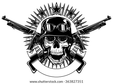 Cool Skull Logos With Guns Army Logo Templ...
