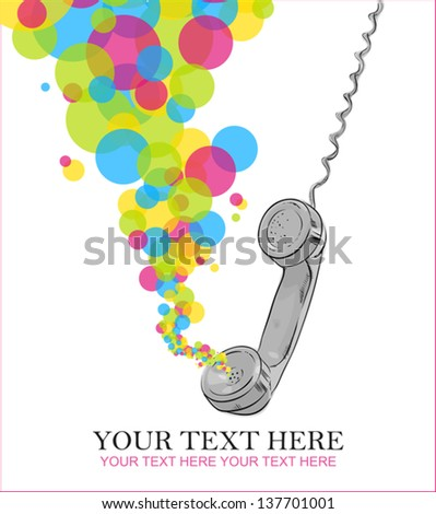 Abstract vector illustration with letefonny tube and balloons. - stock vector